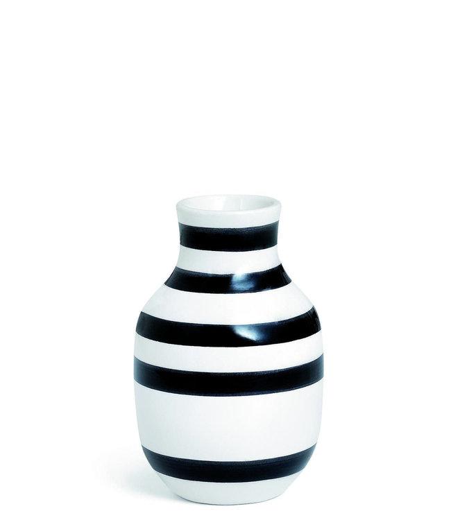 Kähler Design Kähler Design Omaggio Vase Black Stripe H125mm