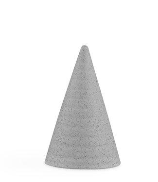 Kähler Design Kähler Design Cone Mat Grijs Geglazuurde kegel H110mm