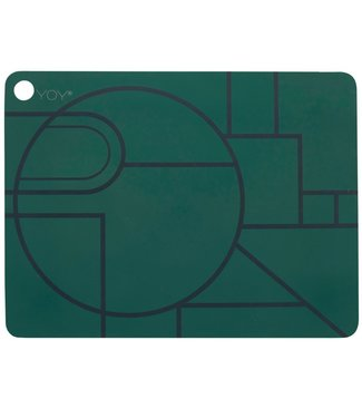 OYOY OYOY Placemat Dark Green Rectangle