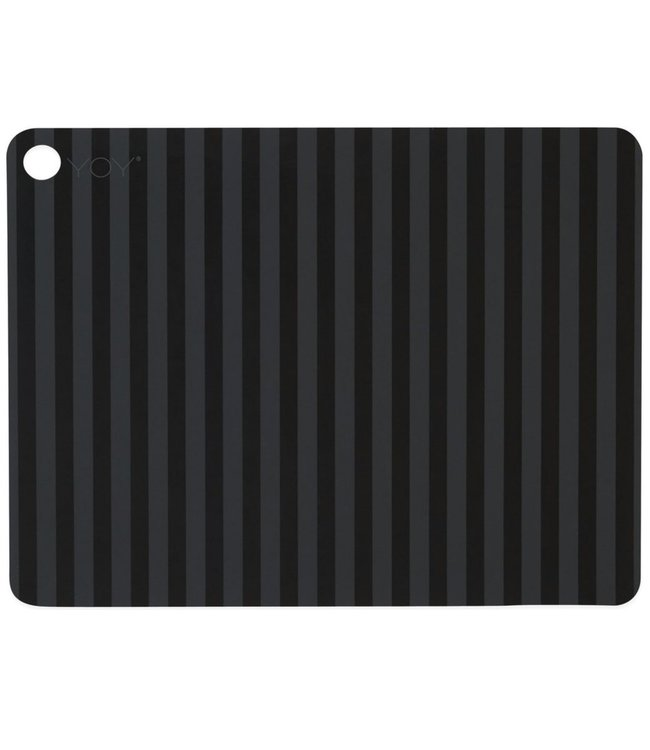 OYOY OYOY Placemat Anthracite Black Stripe Rectangle