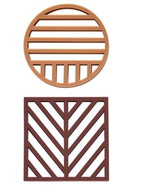 OYOY OYOY Silicone Coasters Aubergine Caramel