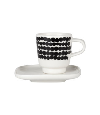 Marimekko Marimekko Räsymatto Espresso kop en schotel