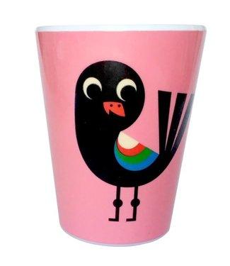 OMM Design OMM design Vogel Roze Melamine Beker
