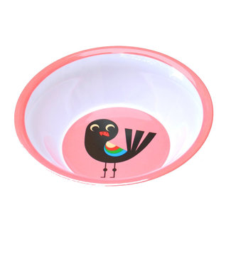 OMM Design OMM design Bird Pink Melamine Bowl