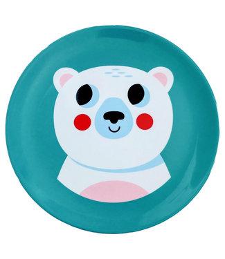 OMM Design OMM design Polar Bear Melamine Plate