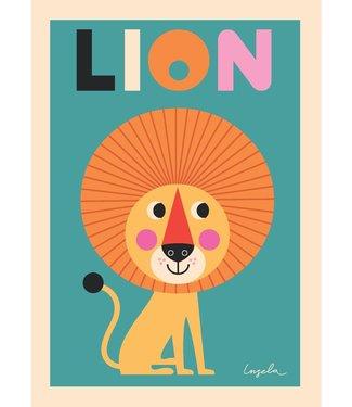 OMM Design OMM Design Poster Leeuw 50x70cm