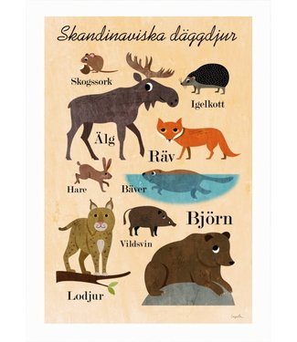 OMM Design OMM Design Poster Scandinavian Animals 50x70cm