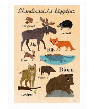 OMM Design OMM Design Poster Scandinavische Dieren 50x70cm