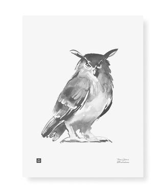 Teemu Järvi  Teemu Järvi Poster Owl 30 x 40 cm