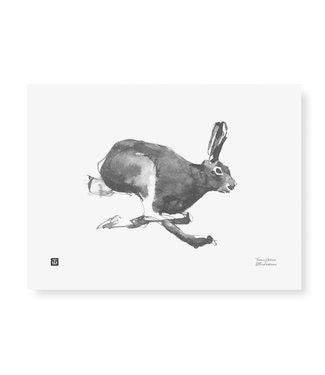 Teemu Järvi  Teemu Järvi Poster Hare 30 x 40 cm