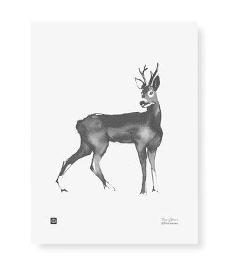 Teemu Järvi  Teemu Järvi Poster Deer 30 x 40 cm