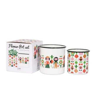OMM Design OMM design Enamel Flower Pot Set Gardener
