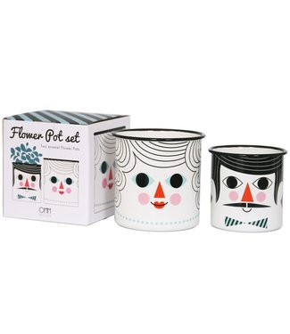 OMM Design OMM design Enamel Flower Pot Set People
