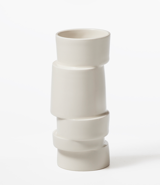 Lars Rank Keramik Lars Rank Vase Stacked White Mini