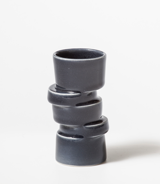 Lars Rank Keramik Lars Rank Vase Stacked Black Mini