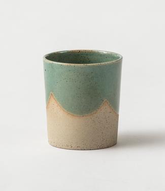 Lars Rank Keramik Lars Rank Keramik Handgemaakte  Beker Green Moss 1,5dl