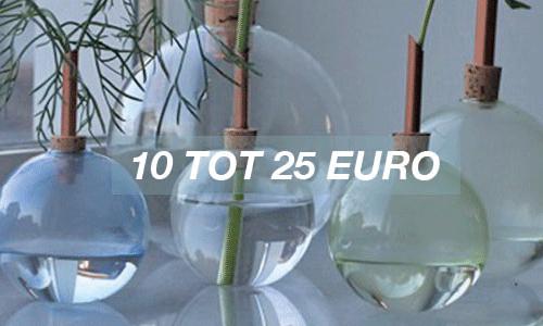 10 to 25 euro