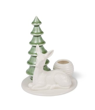 Dottir Dottir Winter Stories Deer  Candlestick