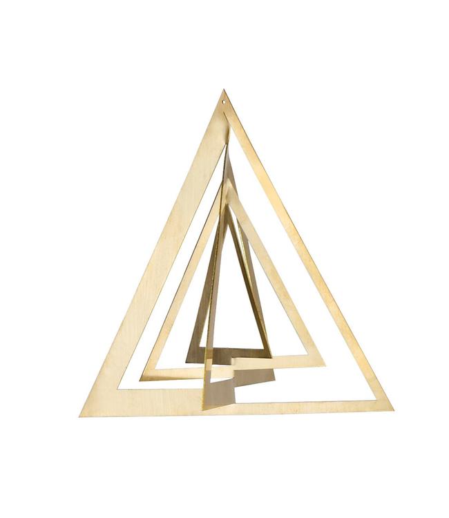 Strups Strups Brass 3D Ornament Triangel