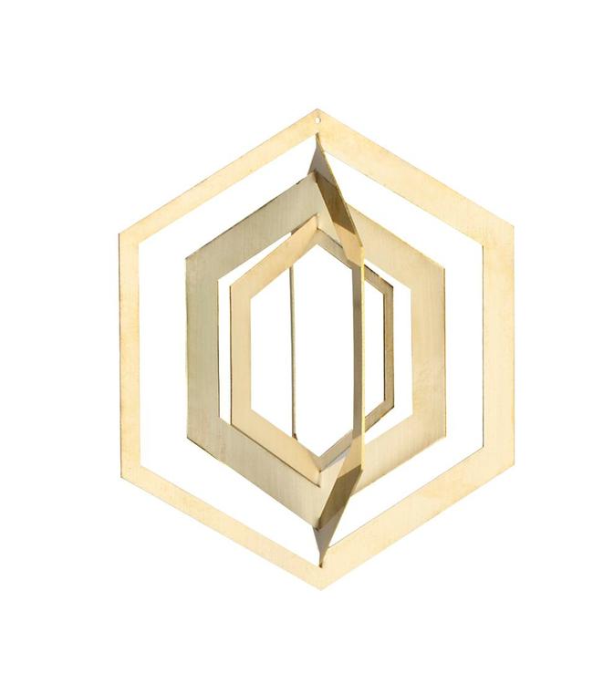 Strups Strups Brass 3D Ornament Hexagon