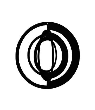 Strups Strups Papieren 3D Ornament Cirkel Zwart (set van 2)