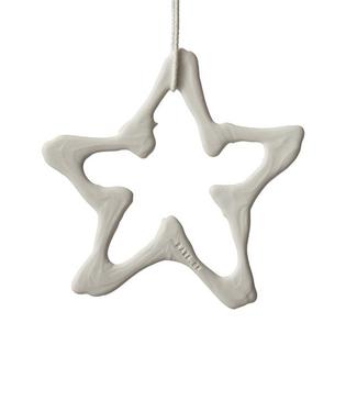 Lars Rank Keramik Lars Rank Keramik Christmas Pendent Star Handmade White