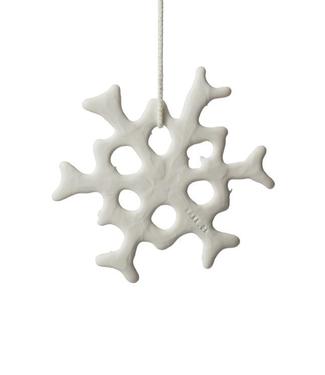 Lars Rank Keramik Lars Rank Keramik Christmas Pendent Frost Flower Handmade White
