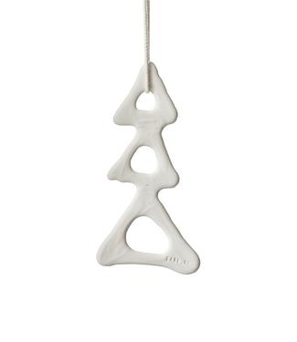 Lars Rank Keramik Lars Rank Keramik Christmas Pendent Christmas Tree Handmade White