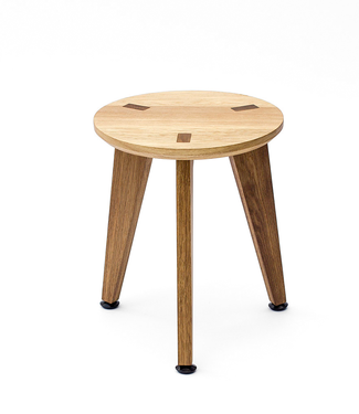 Roon & Rahn Rank Stool Oak