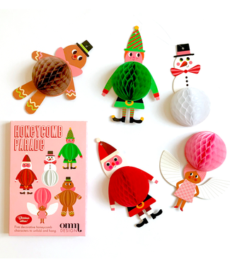 OMM Design OMM Design Honeycomb Parade 5 Christmas Figures