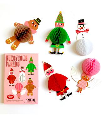 OMM Design OMM Design Honeycomb Parade  5 Kerstfiguren