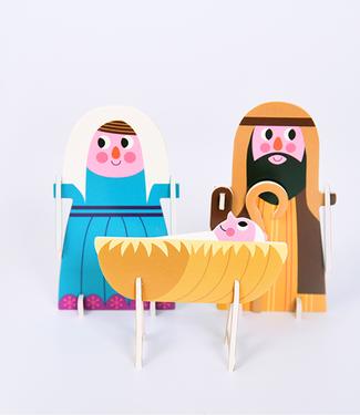 OMM Design OMM Design 3D Puzzel Crib Kerststal