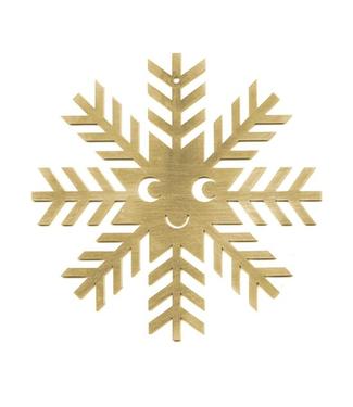 Studio Arhoj Studio Arhoj Blink Ornament Snowflake Brass