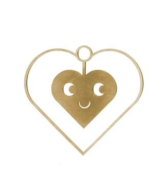 Studio Arhoj Studio Arhoj Blink Ornament Heart Brass