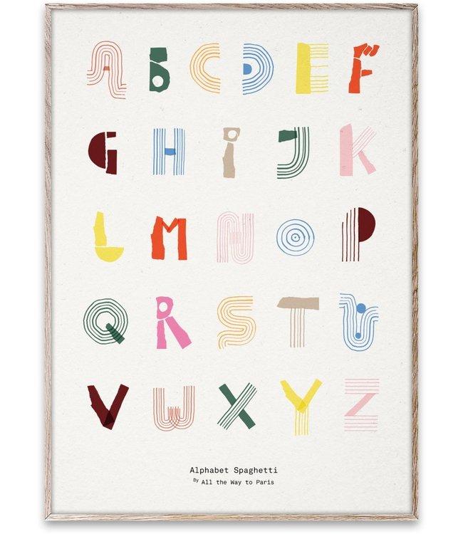 MADO ABC Alfabet Spaghetti poster 50 x 70 cm