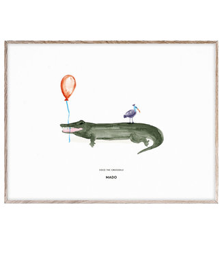 MADO Poster Coco the Crocodile 30 x 40 cm