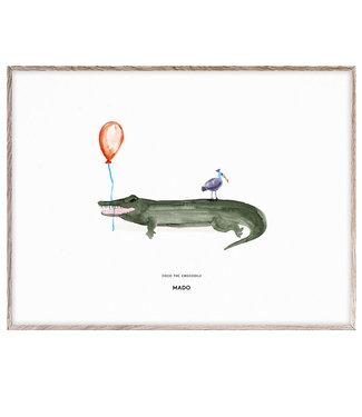 Paper Collective MADO Poster Coco the Crocodile 30 x 40 cm