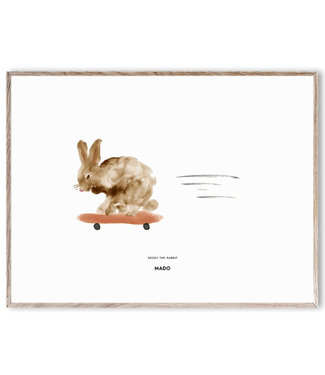 Paper Collective MADO Poster Rocky the Rabbit 30 x 40 cm