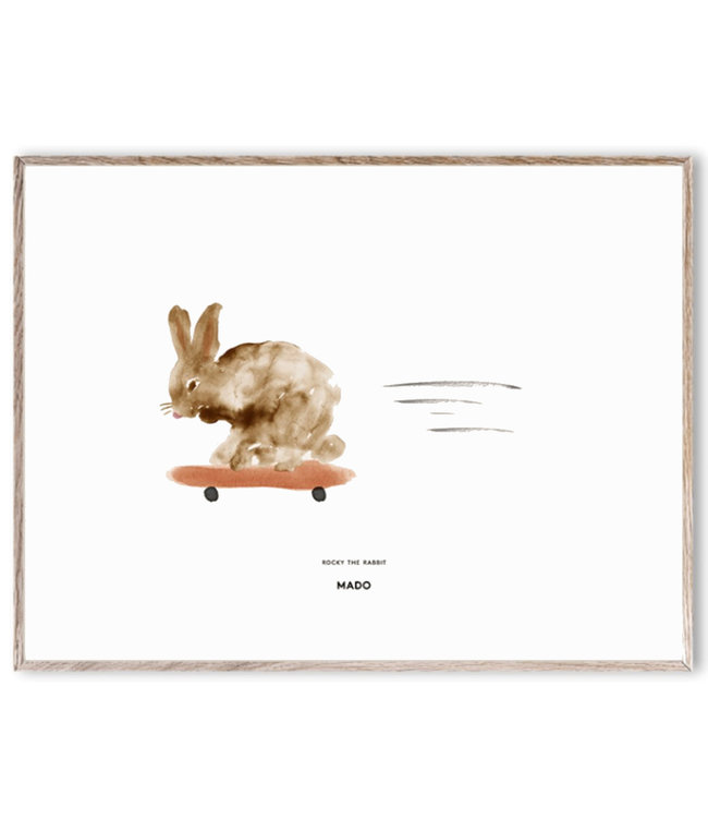MADO Poster Rocky the Rabbit 30 x 40 cm