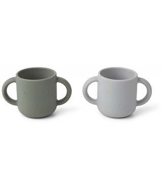 Liewood Liewood Silicone Cups  Rabbit Set of 2