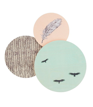 dims Dims Walldots Birdlife Wanddecoratie Set van 3