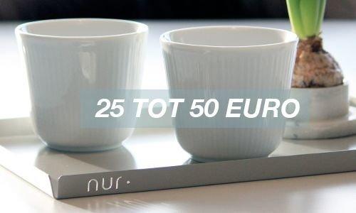 25 to 50 euro