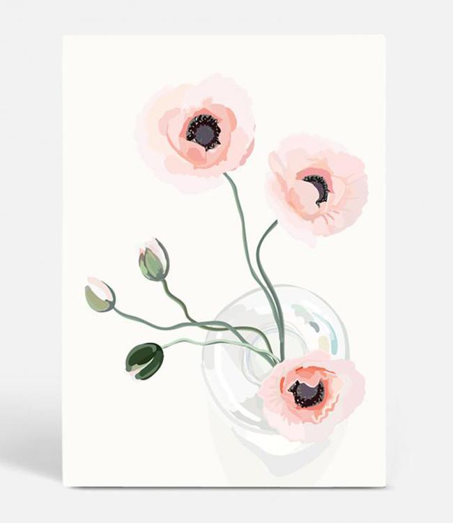 Kortkartellet Kortkartellet Botanica Poster A3  Klaproos