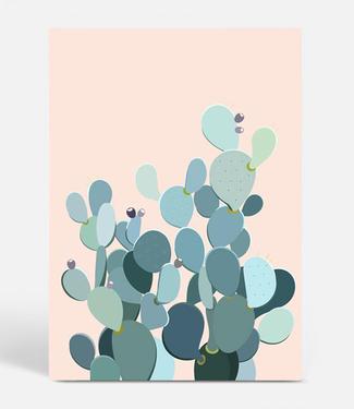 Kortkartellet Kortkartellet Botanica Poster A3  Cactus Perzik