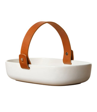 Marimekko Marimekko Oiva Koppa Serving dish with leather handle