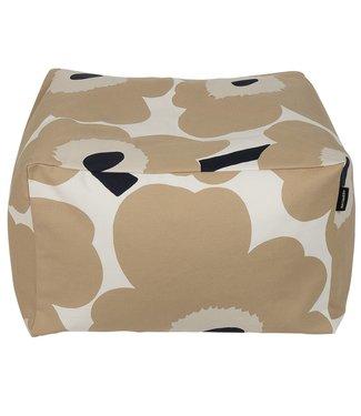 Marimekko Marimekko Unikko beige Puffi seat cushion 35x55x55cm