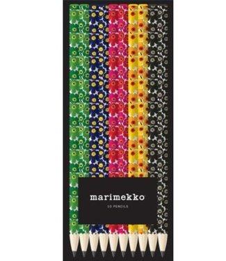 Marimekko Marimekko Doosje met 10 HB potloden met Unikko dessin