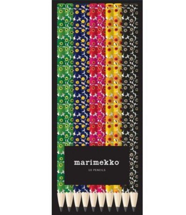 Marimekko Marimekko Box with 10 HB pencils with Unikko design