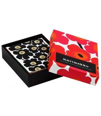 Marimekko Marimekko Set van 20 Unikko kaarten met envelop in doos