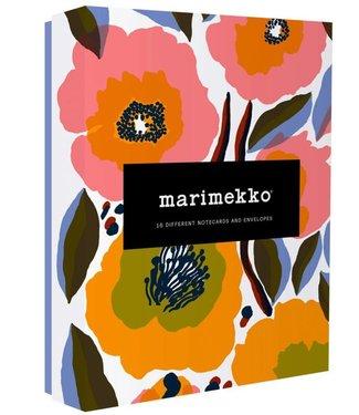 Marimekko Marimekko Set van 16 unieke bloemen kaarten met envelop